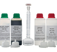 Complete kit for free SO2 and total acidity determination