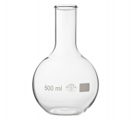 Flat bottom glass flask, narrow neck - 50 ml