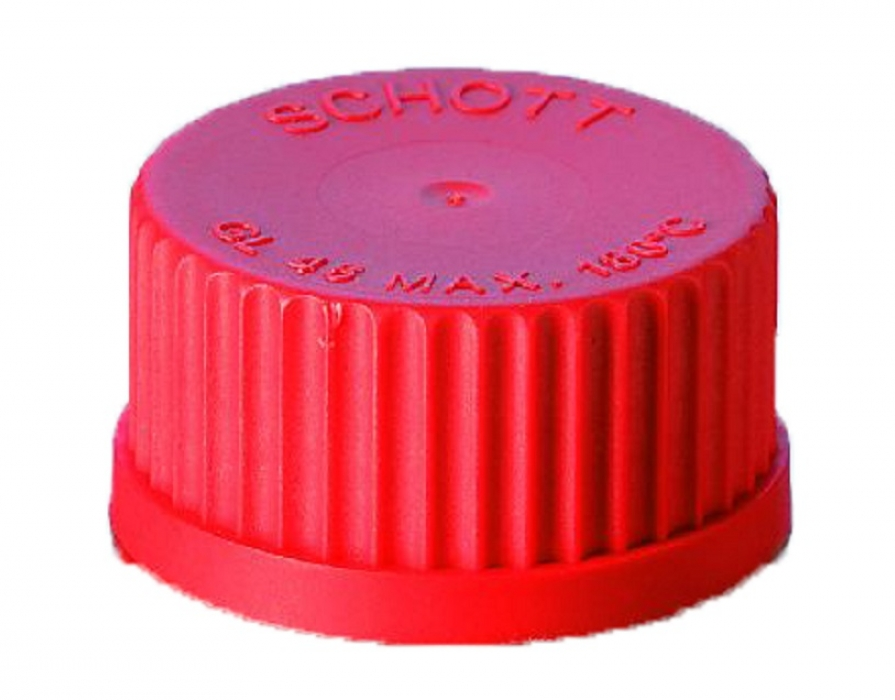 Bouchon de ballon double GL45 rouge pour distillateur automatique