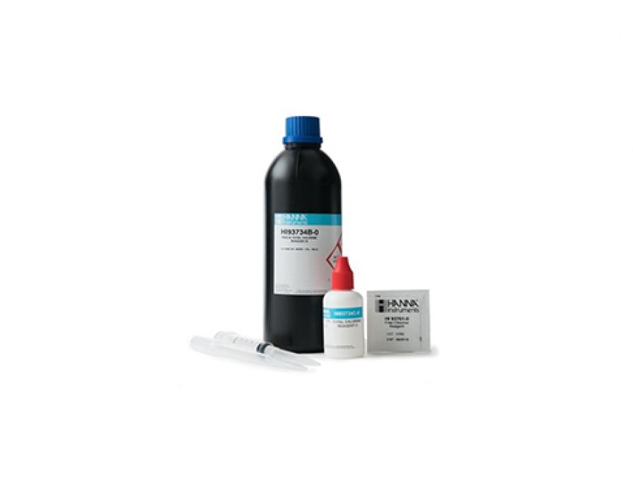 Réactifs pour 100 tests chlore, gamme large